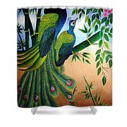 Garden Jewel II Hand Embroidery Shower Curtain by To-Tam Gerwe