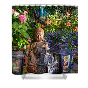 Garden Meditation Shower Curtain