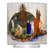 Garden Of Eden: Adam & Eve Shower Curtain