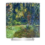 Garden Of Giverny Shower Curtain