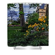 Sunset At Garden Of Les Invalides Shower Curtain