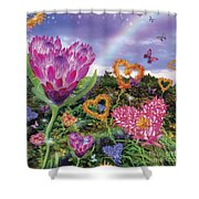 Garden Of Love 2 Shower Curtain by Alixandra Mullins