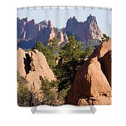Garden Of The Gods And Red Rocks Open Space Shower Curtain