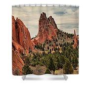 Garden Of The Gods Jagged Peaks Shower Curtain