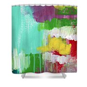 Garden Path- Abstract Expressionist Art Shower Curtain