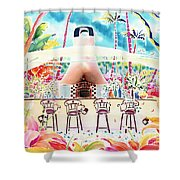 Garden Restaurant Shower Curtain