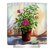 Garden Roses Shower Curtain