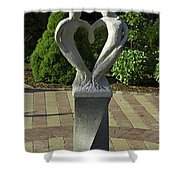 Garden Sculpture Shower Curtain