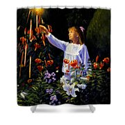 Garden Sparks Shower Curtain