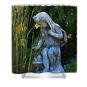 Garden Statuary Shower Curtain