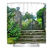 Garden Steps Shower Curtain