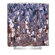 Garden Stone Wall  Shower Curtain