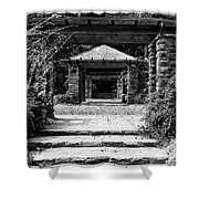 Garden Structure 1bw Shower Curtain