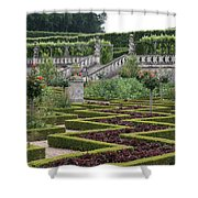 Garden Symmetry Chateau Villandry  Shower Curtain