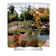 Japanese Gardens - Garden View Series 05 Shower Curtain