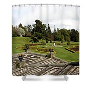 Garden View - Powerscourt Garden Shower Curtain
