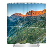 Garden Wall Sunset Shower Curtain
