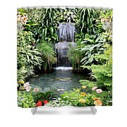 Garden Waterfall Shower Curtain