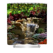 Garden Waterfalls Shower Curtain