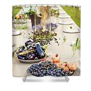 Garden Wedding Table Shower Curtain