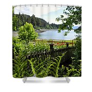 Garden With A View Shower Curtain