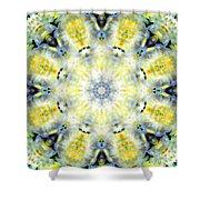 Gardenia Mandala Shower Curtain