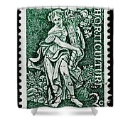 Gardening And Horticulture Vintage Postage Stamp Print Shower Curtain