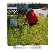 Gardening Distractions In Park Sierra-california Shower Curtain