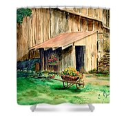 Gardening Shed Shower Curtain