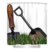 Gardening Tools Shower Curtain