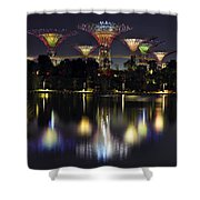 Gardens By The Bay Supertree Grove Shower Curtain