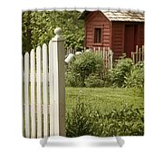 Garden's Entrance Shower Curtain by Margie Hurwich