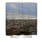 Gargoyle And The Eiffel Tower Shower Curtain
