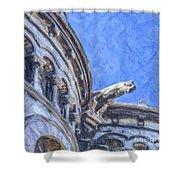 Gargoyle On Sacre Coeur Shower Curtain