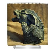 Gargoyle Or Grotesque Profile Shower Curtain