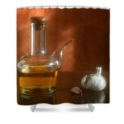 Garlic And Olive Oil. Shower Curtain