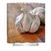 Garlic Cloves Shower Curtain