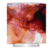 Garnet Sea - Abstract Art By Sharon Cummings Shower Curtain