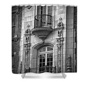 Garrison Hall Window Ut Bw Shower Curtain