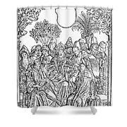 Gart Der Gesuntheit, 1485 Shower Curtain