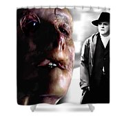 Gary Oldman And Anthony Hopkins In The Film Hanibbal By Ridley Scott Shower Curtain
