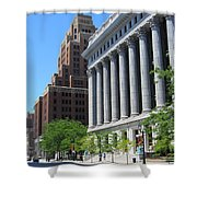Gas Building And Nml Tall Shower Curtain