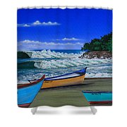 Gas Chambers  Puerto Rico Shower Curtain