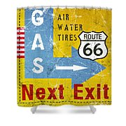 Gas Next Exit- Route 66 Shower Curtain