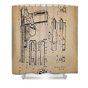 Gas Operated Semi-automatic Pistol Shower Curtain