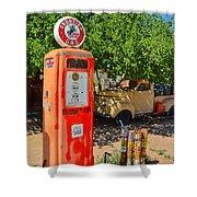 Gas Pump At Embudo Gas Museum Shower Curtain