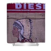 Gas Station Indian Chief Shower Curtain