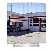Gas Station Museum Shower Curtain