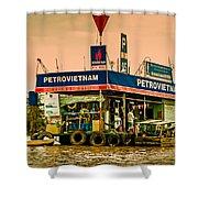 Gas Station Vietnam Style Shower Curtain