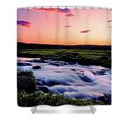 Gaski Waterfall, Grafarlandaa River Shower Curtain
